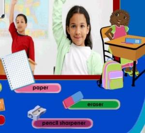 تعليم كلمات إنجليزية لمواد الصف Teach English words to grade materials