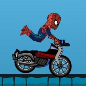 سبايدر مان راكب الدراجة النارية