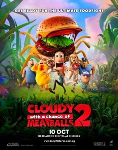 شاهد فلم الكرتون cloudy with a chance of meatballs 2