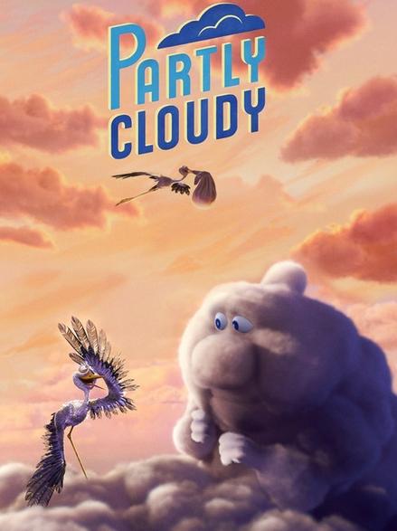 شاهد فلم الكرتون القصير الصامت والمضحك Partly Cloudy 2009