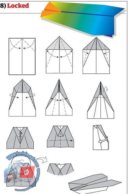 اصنع طائرة ورقية شكل 6
