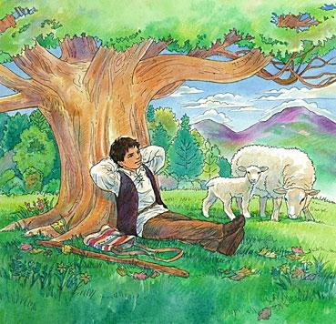 The Boy Who Cried Wolf Story Kids Art