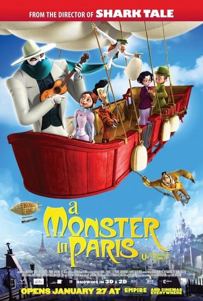 شاهد فلم الكرتون وحش في باريس A Monster In Paris 2011